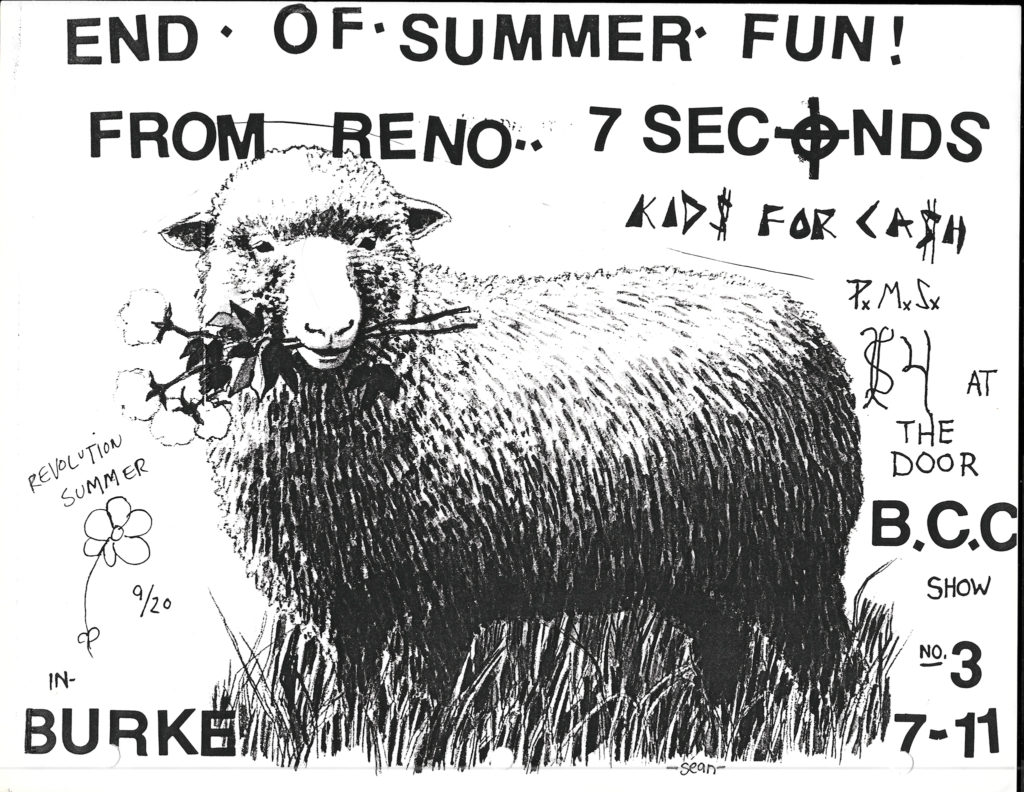 7 Seconds, Kids For Cash, PMS on Sept. 20, 1985